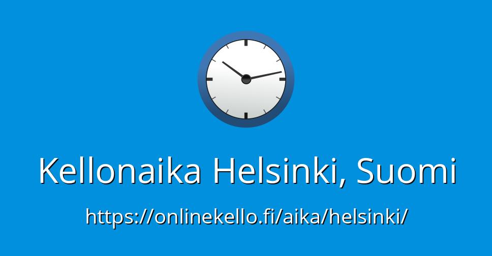 Kellonaika Suomi